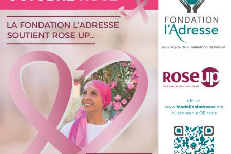 Le 27ème Octobre Rose est soutenu par la Fondation l'Adresse et les agences immobilières